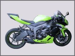 Escapamento ZX 6R 10 a 13 -Cs Racing  Ponteira